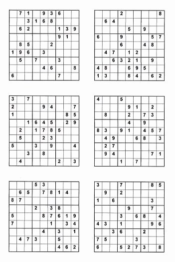 Printable Blank Sudoku 4 Per Page New Related Keywords & Suggestions for Hard Sudoku 4 Per Page