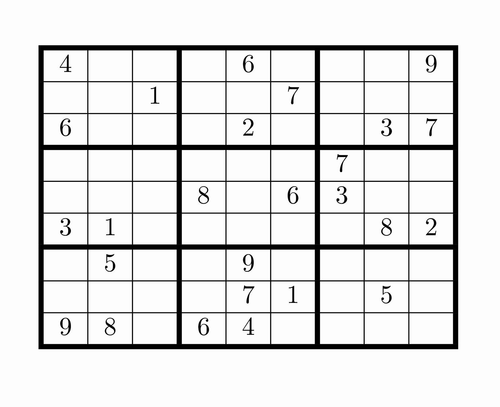Printable Blank Sudoku 4 Per Page Unique Tirpidz S Sudoku 25 Classic Sudoku 9 X 9