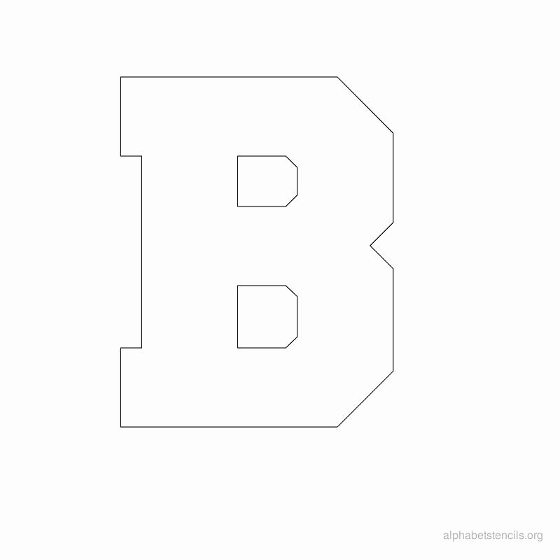 Printable Block Letters Template Awesome Print Free Alphabet Stencils Block B Sew Nice