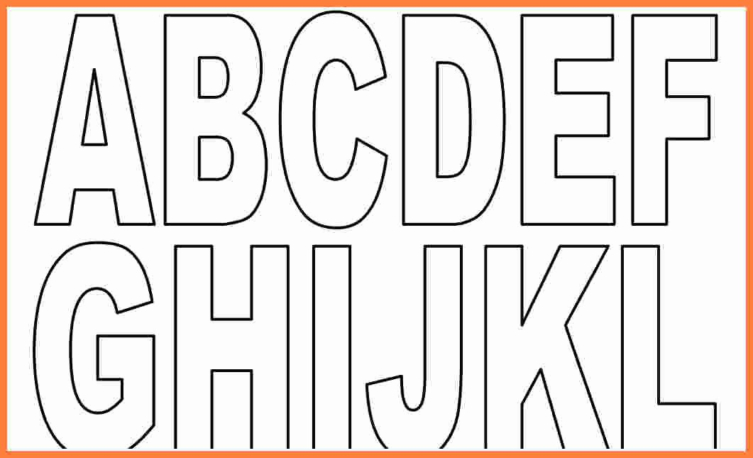 Printable Block Letters Template Elegant 6 Block Letter Template