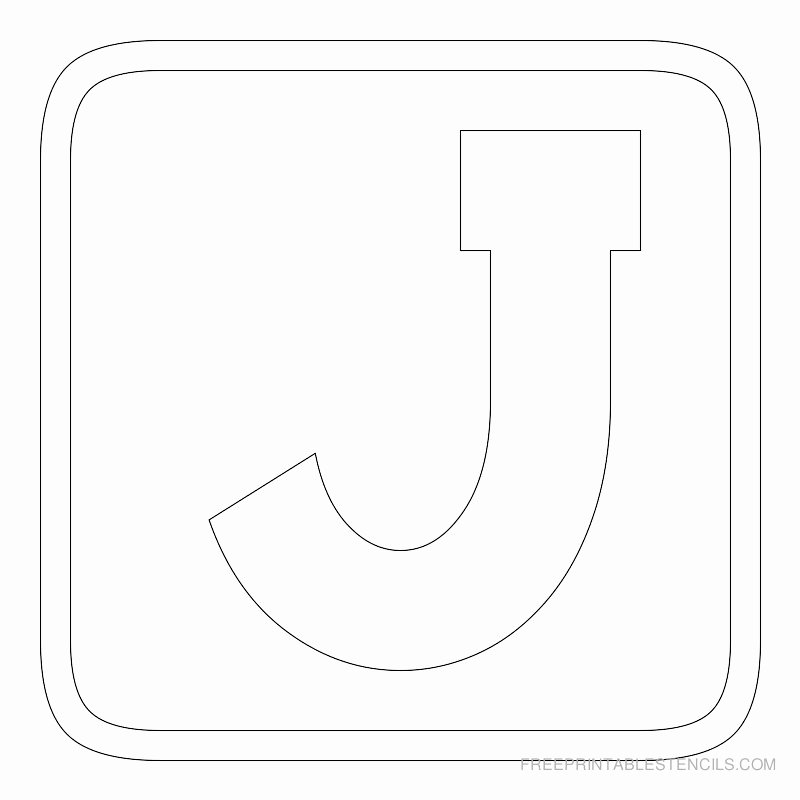 Printable Block Letters Template New Printable Block Letter Stencils