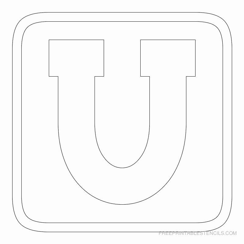 Printable Block Letters Template Unique Printable Block Letter Stencils