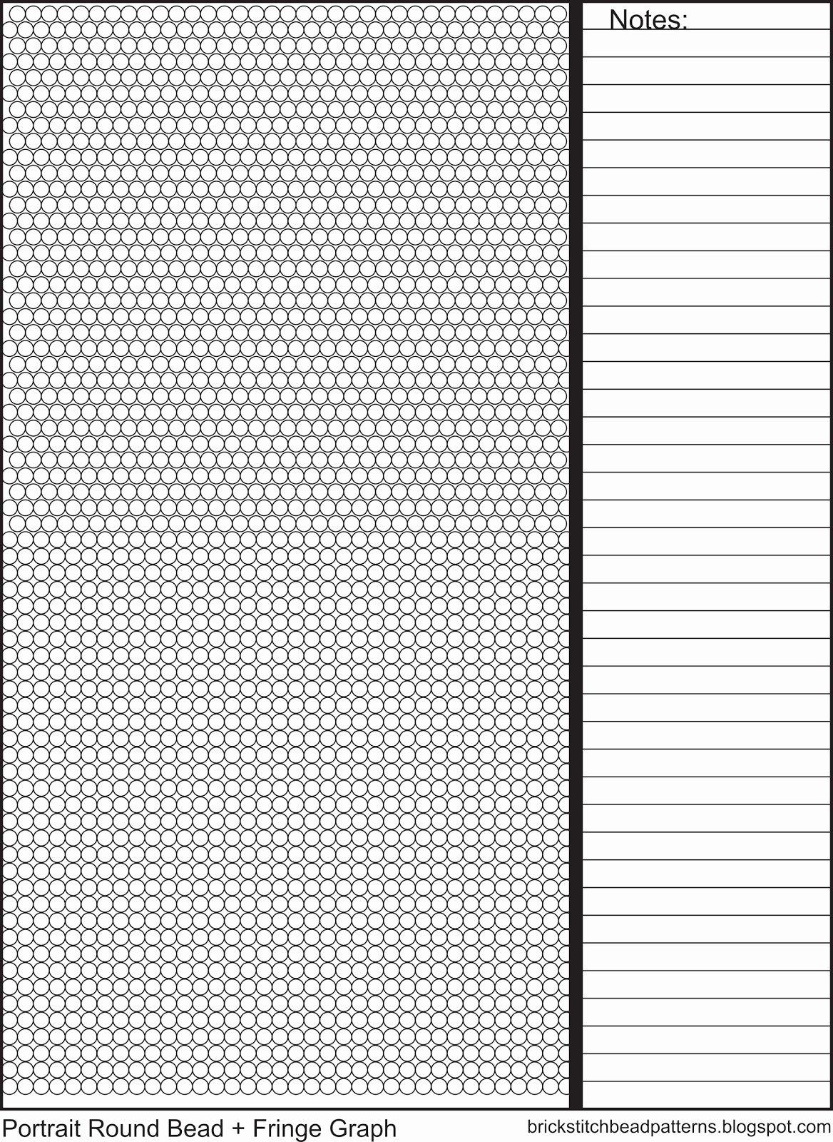 Printable Brick Pattern Unique Brick Stitch Bead Patterns Journal Universal Round Seed