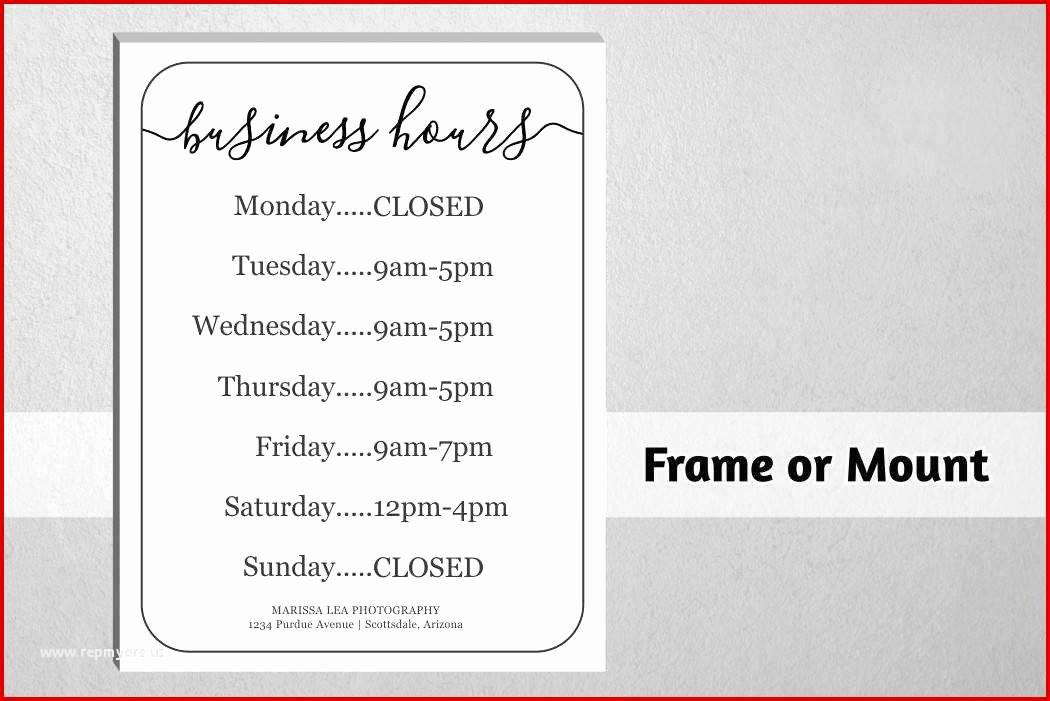 Printable Business Hours Sign Lovely 39 Unexceeded Fice Hours Template