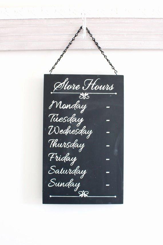 Printable Business Hours Sign Unique Chalkboard Sign Business Hours Sign Store Hours Sign