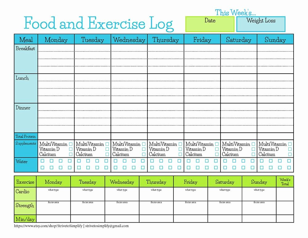Printable Calorie Tracker Beautiful Bariatric Surgery Food Exercise Tracker