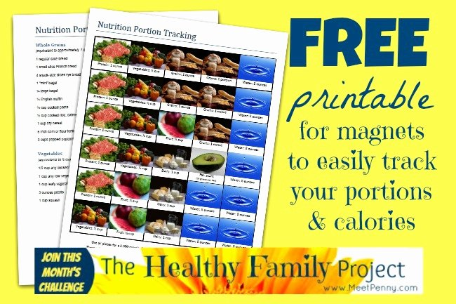 Printable Calorie Tracker Beautiful Free Printable for Portion Control No Calorie Counting
