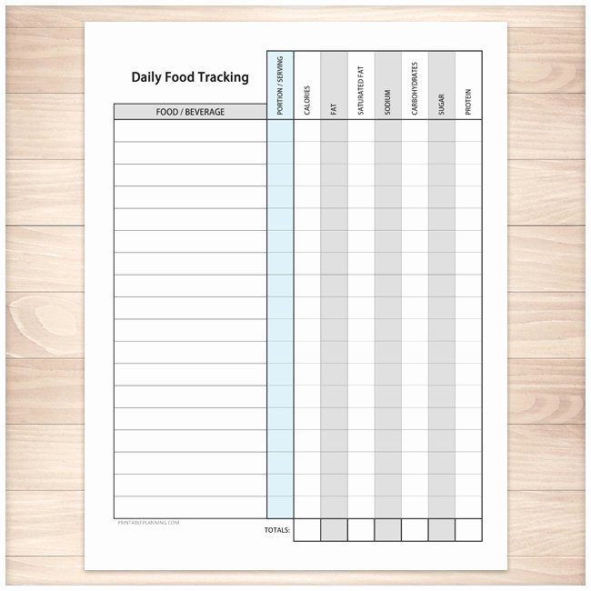 Printable Calorie Tracker New Printable Food Tracking Sheet Healthy Eating Daily Calorie
