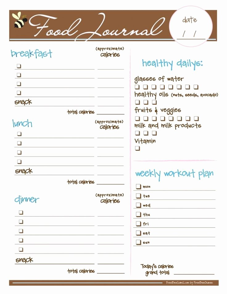 Printable Calorie Tracker Unique 25 Best Ideas About Food Journal Printable On Pinterest