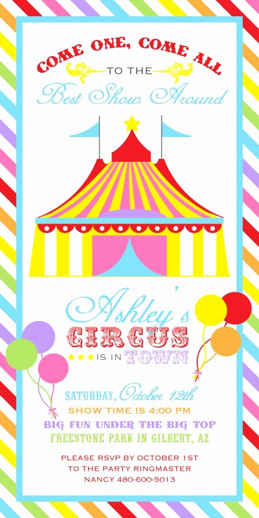 Printable Carnival Birthday Invitations Best Of A Bright and Colorful Rainbow Carnival Party anders Ruff