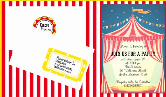 Printable Carnival Birthday Invitations Elegant 27 Carnival Birthday Invitations Free Psd Vector Eps