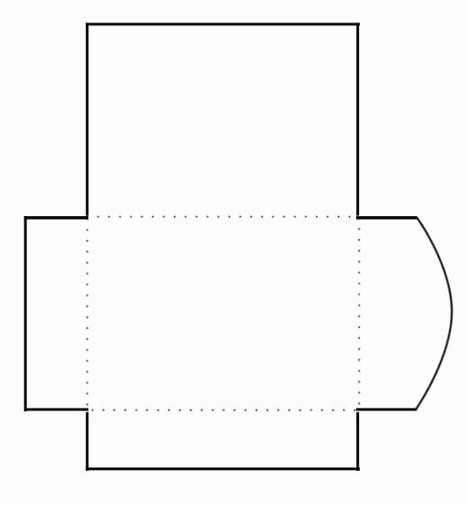 Printable Cd Envelope Template Inspirational Blank Print and Cut Gift Card Envelope Template