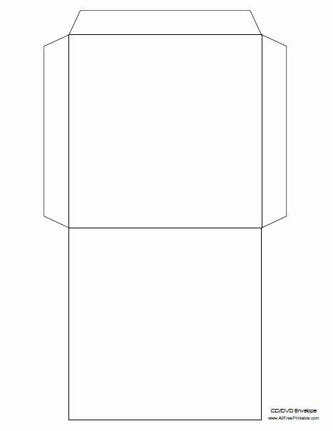 Printable Cd Envelope Template Unique Cd Envelope Template Free Printable Allfreeprintable