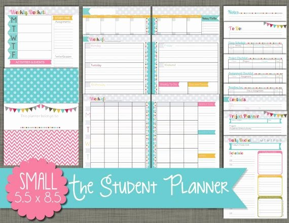 Printable College Student Planner Awesome Best 25 Student Planner Printable Ideas On Pinterest
