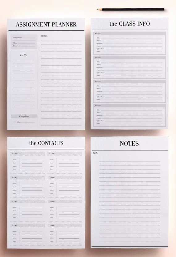 Printable College Student Planner Best Of the 25 Best Student Planner Printable Ideas On Pinterest