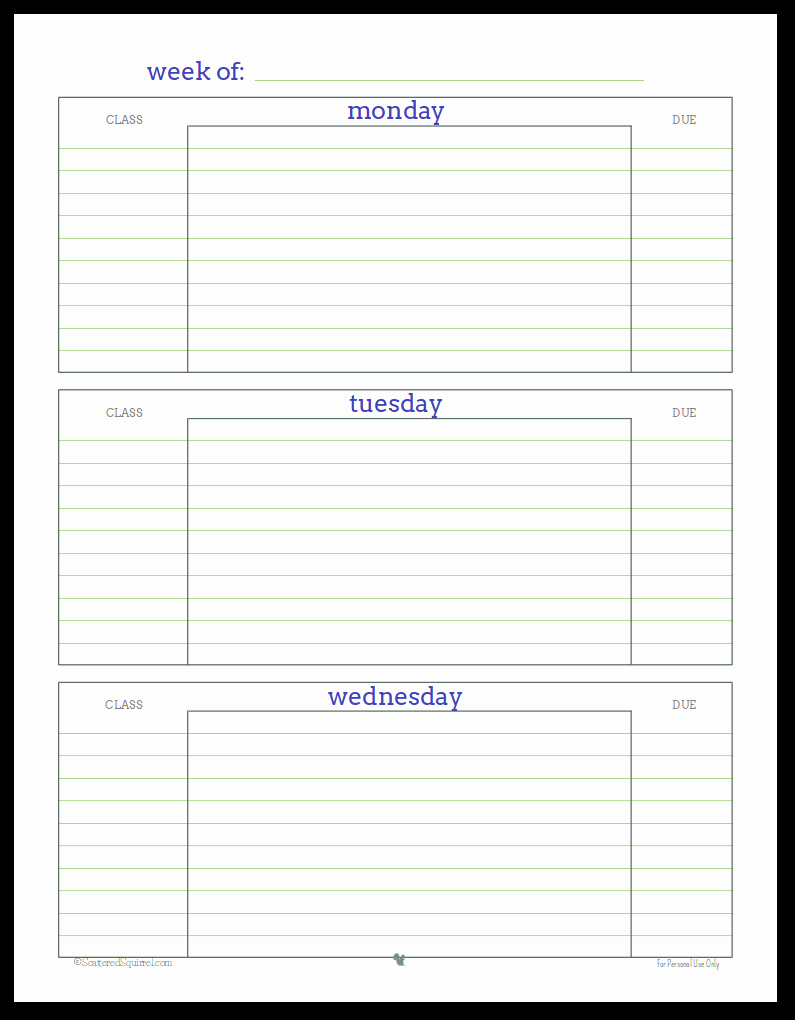 Printable College Student Planner Elegant Getting Ready for Back to School Student Planner Printables