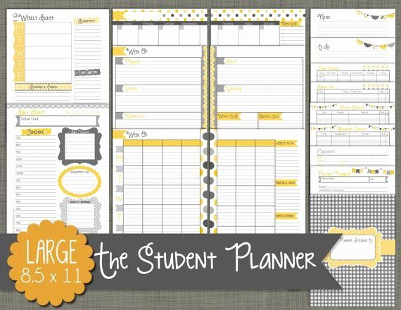 Printable College Student Planner Fresh Best 25 Student Planner Printable Ideas On Pinterest