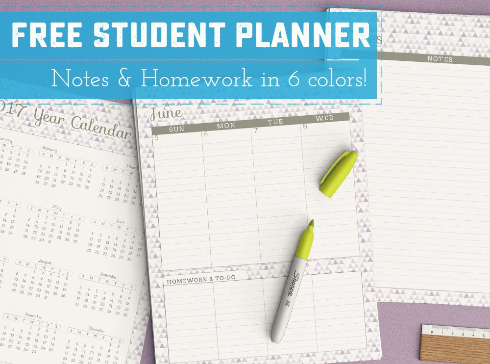 Printable College Student Planner Fresh Free Printable Student Planner Sweet Anne Designs