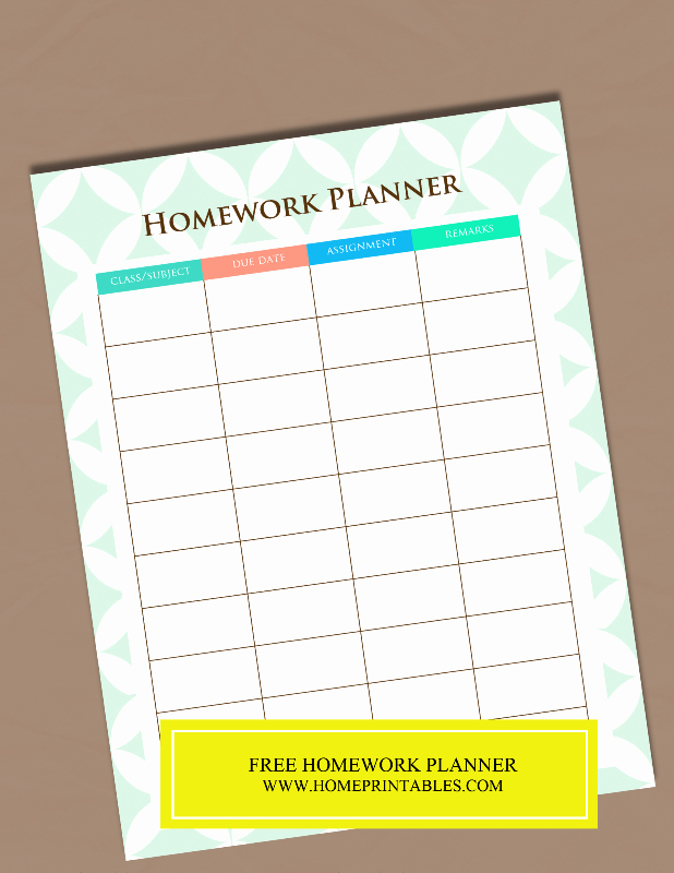 Printable College Student Planner Inspirational A Free Printable Homework Planner It S Pretty Home