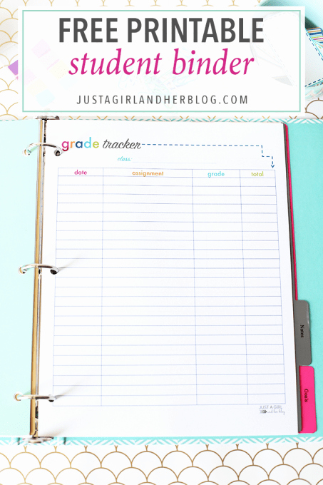 Printable College Student Planner New Free Printables Archives Just A Girl and Her Blog