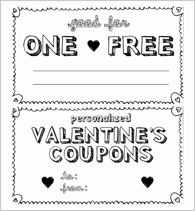 Printable Coupon Template Word Elegant 28 Homemade Coupon Templates – Free Sample Example