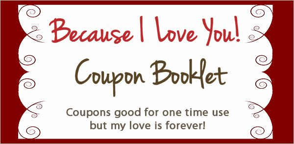 Printable Coupon Template Word Elegant Love Coupon Template