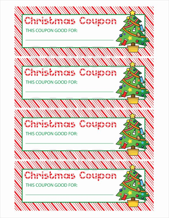 Printable Coupon Template Word Fresh 35 Christmas Coupon Templates Psd Doc Apple Pages