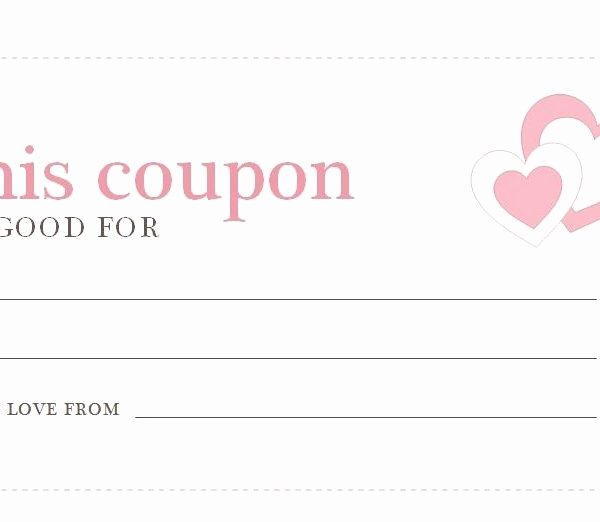 Printable Coupon Template Word Fresh Blank Coupon Template Printable – Yun56 Throughout Love