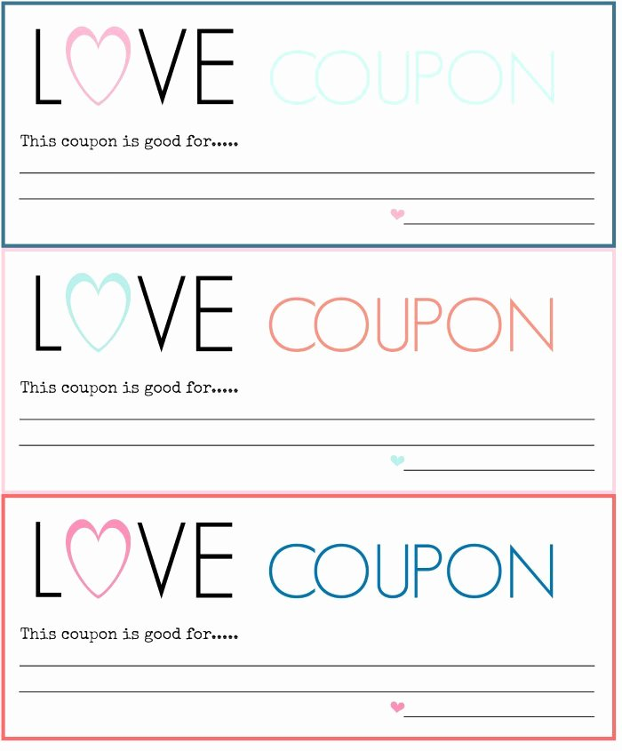 Printable Coupon Template Word New 30 Great Valentine's Day T Ideas for Him or Her – St