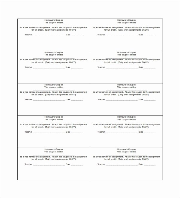 Printable Coupon Template Word New 40 Blank Templates Free Sample Example format