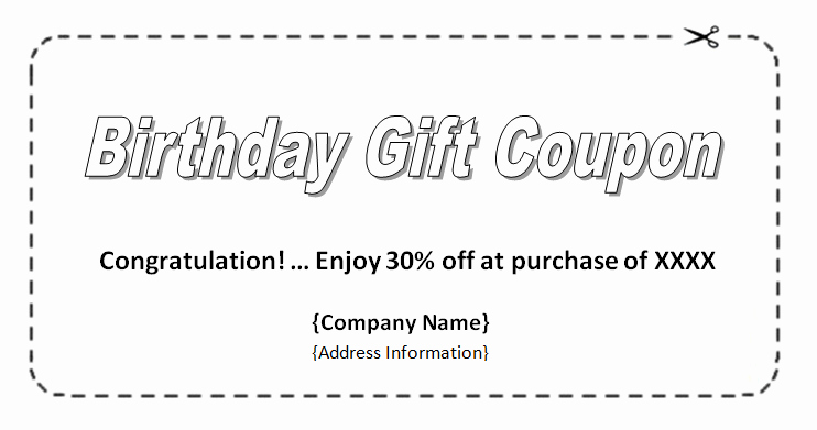Printable Coupon Template Word Unique Coupon Template Word