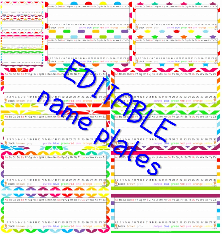 Printable Desk Name Plates Best Of Editable Name Plates and Worksheets are Here Learning