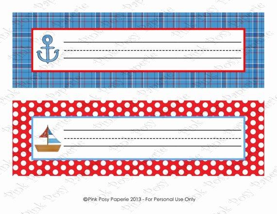 Printable Desk Name Plates Elegant Items Similar to Printable Nautical Classroom Decor Desk