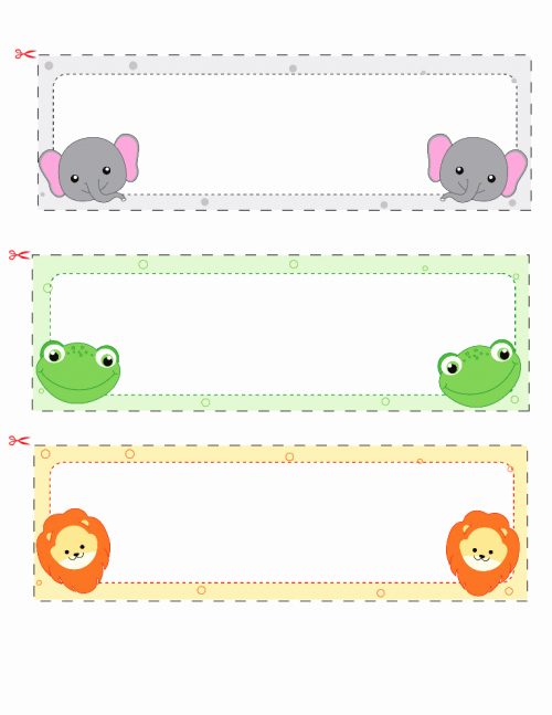 Printable Desk Name Plates Lovely Name Cards for Kids 2 Elephant Classroom