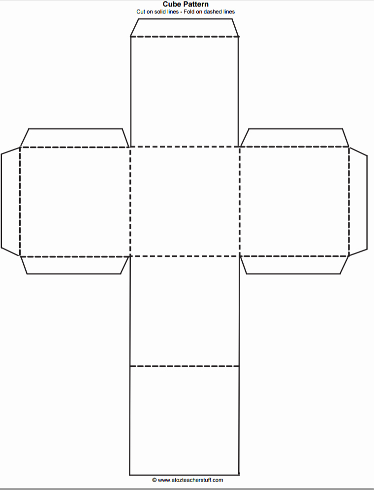 Printable Dice Template Best Of Printable Cube Pattern or Template
