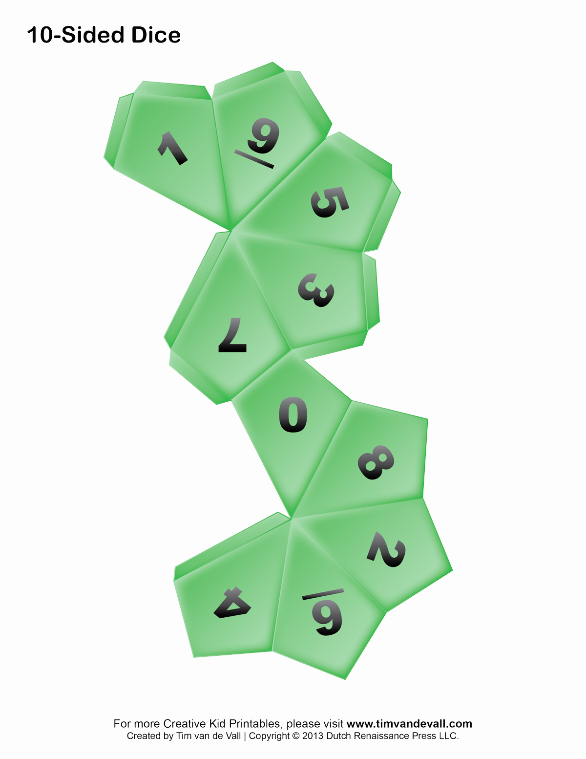 Printable Dice Template Fresh Printable Paper Dice Template Pdf Make Your Own 6 10
