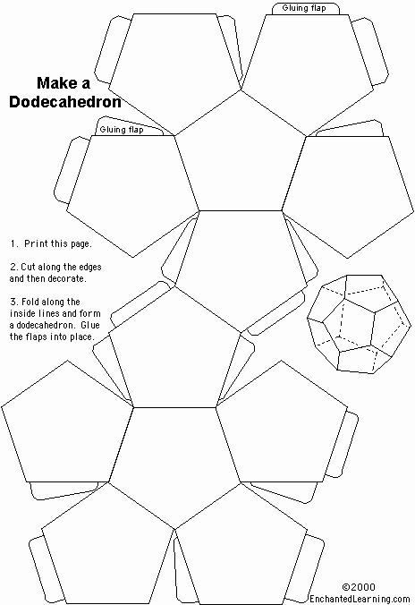 Printable Dice Template Luxury the 25 Best Dodecahedron Template Ideas On Pinterest