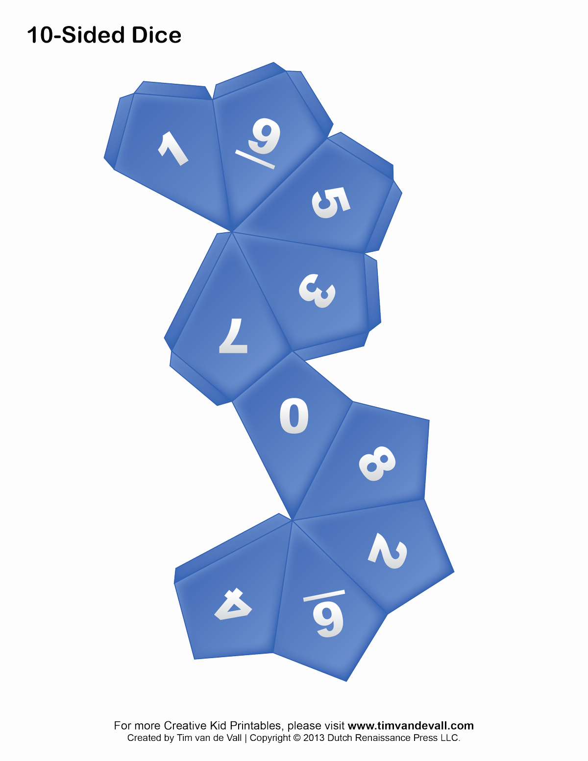 Printable Dice Template New Printable Paper Dice Template Pdf Make Your Own 6 10