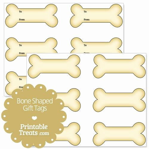 Printable Dog Tag Template Fresh Printable Bone Shaped Gift Tags Printable Treats