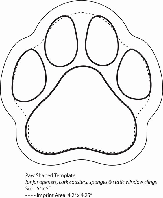 Printable Dog Tags Templates Fresh Dog Paws Template Printable Nextinvitation Templates