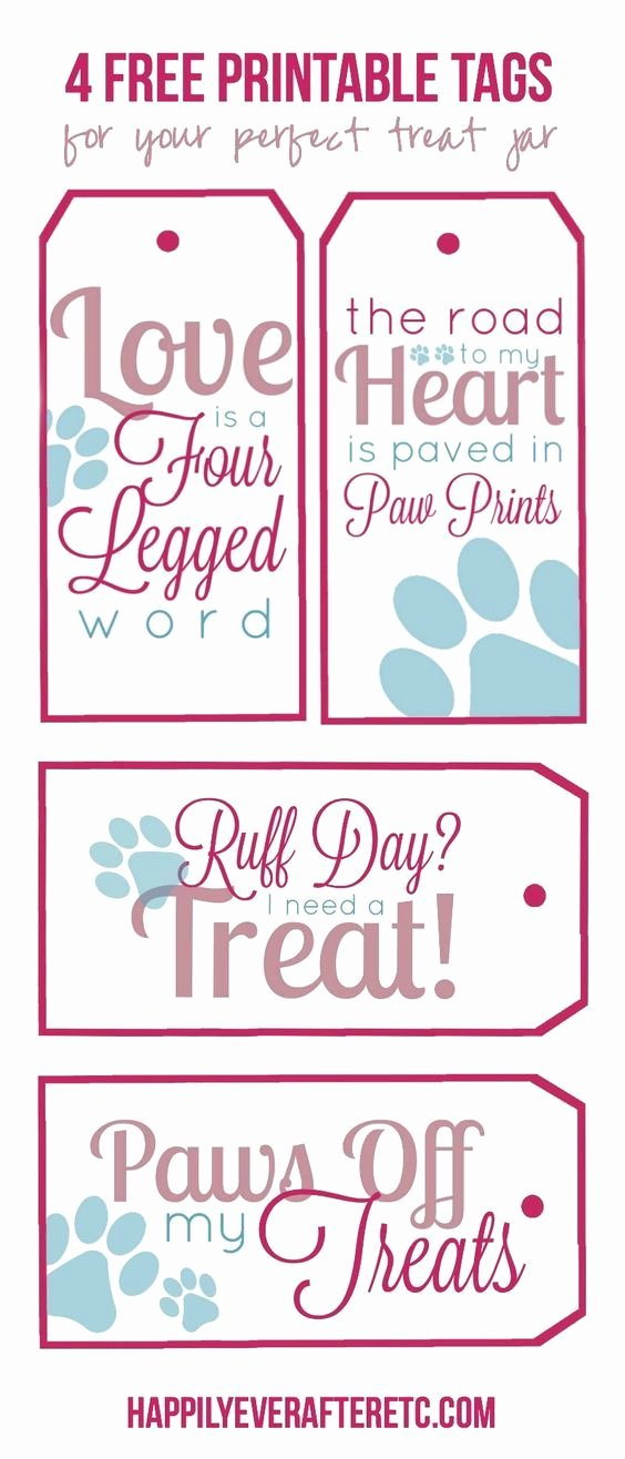 Printable Dog Tags Templates Fresh How to Diy A Dog Treat Jar with 4 Free Printable Tags