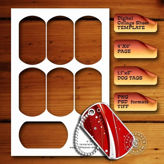 Printable Dog Tags Templates New 1 1x2 Inch Dog Tags Diy Digital Collage Sheet by 4x6heaven