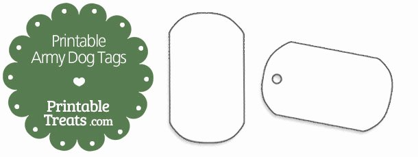 Printable Dog Tags Templates Unique Printable Hand Fan Template — Printable Treats