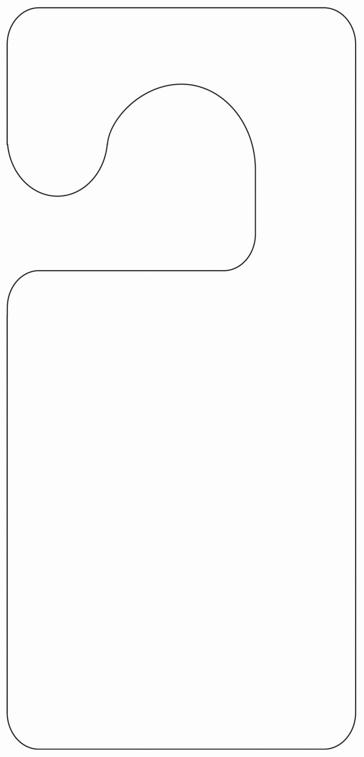 Printable Door Hanger Template Awesome Printable Door Hanger Template