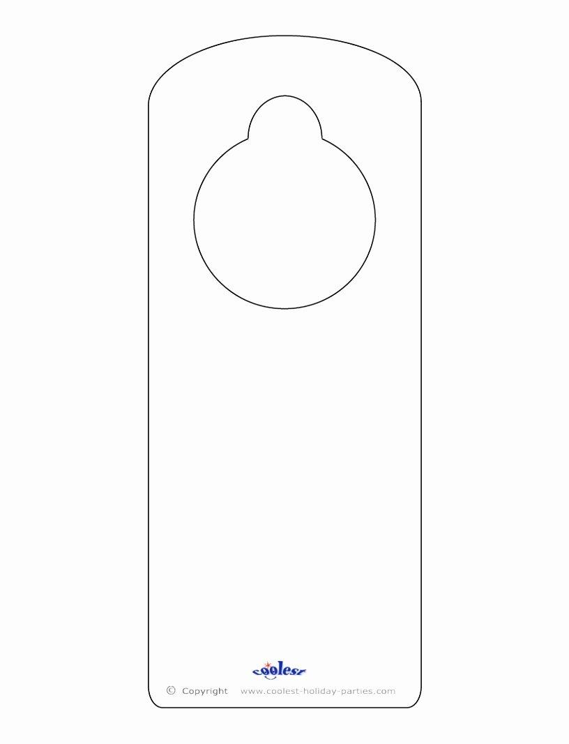 Printable Door Hanger Template Elegant 9 Door Knob Templates Printable Arupr