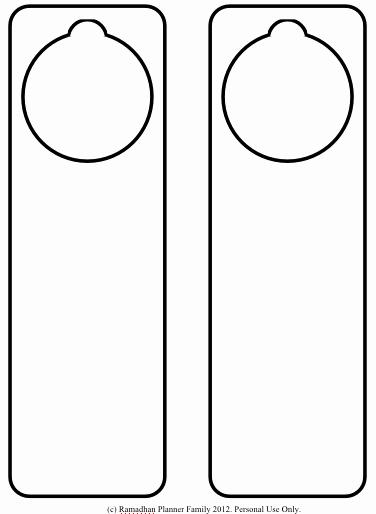 Printable Door Hanger Template Elegant July