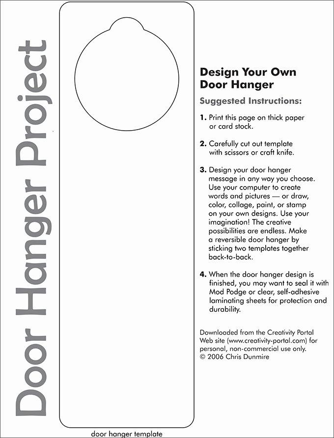 Printable Door Hanger Template Fresh Door Hanger Template