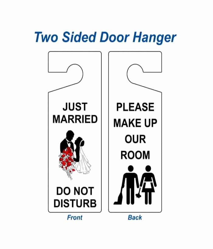 Printable Door Hanger Template Lovely 43 Free Door Hanger Templates Word Pdf Template Lab