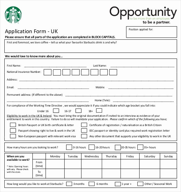 Printable Employment Application Template Inspirational 10 Restaurant Application Templates – Free Sample
