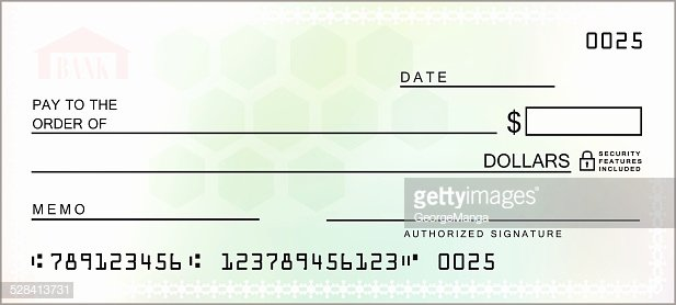 Printable Fake Check Unique Multicolored Blank Check Vector Vector Art